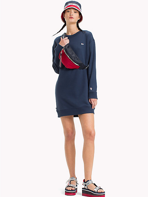 TOMMY JEANS Long-Sleeved Sweater Dress - BLACK IRIS - TOMMY JEANS SALE DE - main image