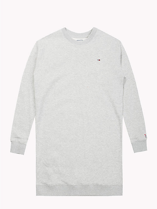 TOMMY JEANS Long-Sleeved Sweater Dress - LT GREY HTR - TOMMY JEANS Tommy Classics - detail image 1