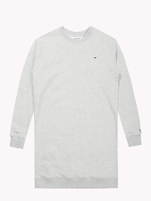 TOMMY JEANS Long-Sleeved Sweater Dress - LT GREY HTR -  SALE UK - detail image 1