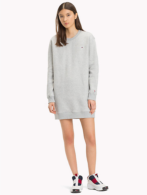 TOMMY JEANS Long-Sleeved Sweater Dress - LT GREY HTR -  SALE UK - main image