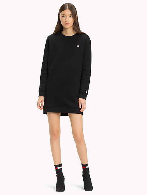 TOMMY JEANS Long-Sleeved Sweater Dress - TOMMY BLACK - TOMMY JEANS Tommy Classics - detail image 1