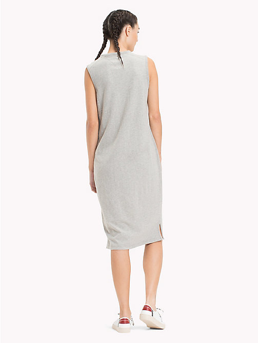 TOMMY JEANS Logo Tank Dress - LIGHT GREY HTR BC03 - TOMMY JEANS Festival Season - detail image 1