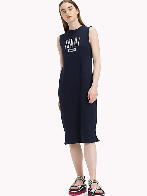 TOMMY JEANS Logo Tank Dress - BLACK IRIS - TOMMY JEANS Midi - main image