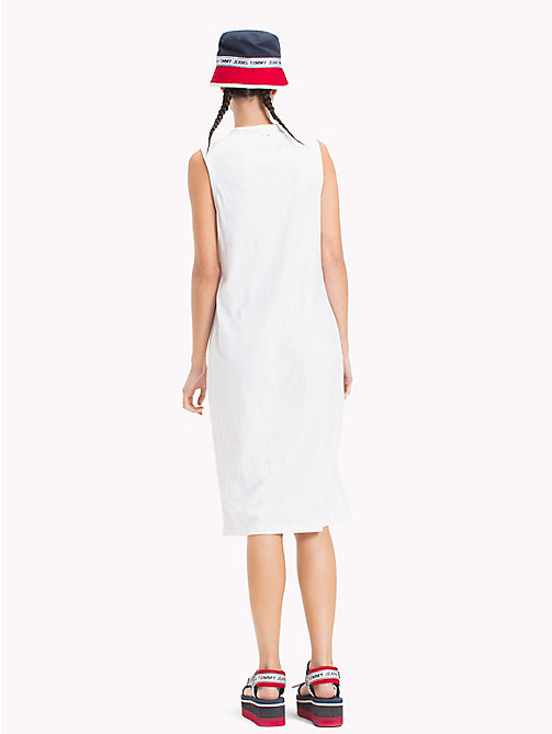 TOMMY JEANS Logo Tank Dress - BRIGHT WHITE - TOMMY JEANS Festival Season - detail image 1