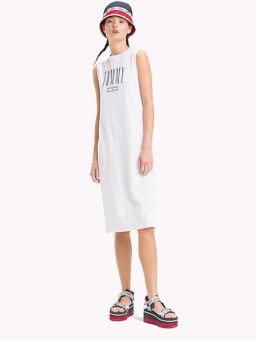 TOMMY JEANS Logo Tank Dress - BRIGHT WHITE - TOMMY JEANS Midi - main image