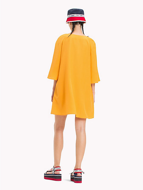 TOMMY JEANS Bell Sleeve A-Line Dress - BUTTERSCOTCH - TOMMY JEANS Mini - detail image 1