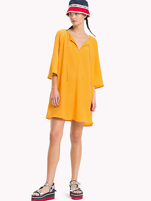 TOMMY JEANS Bell Sleeve A-Line Dress - BUTTERSCOTCH -  Mini - main image