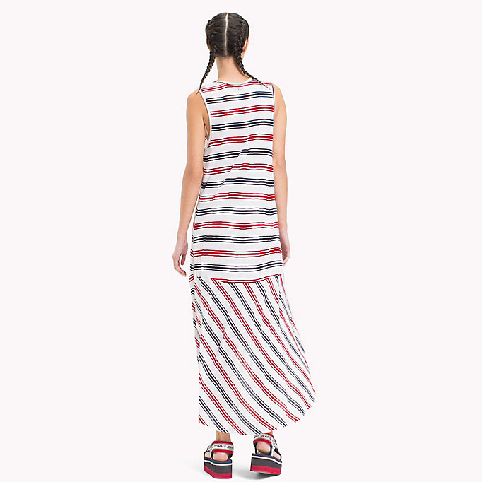 TOMMY JEANS Stripe Jersey Tank Dress - BLACK IRIS / SNOW WHITE - TOMMY JEANS Women - detail image 1