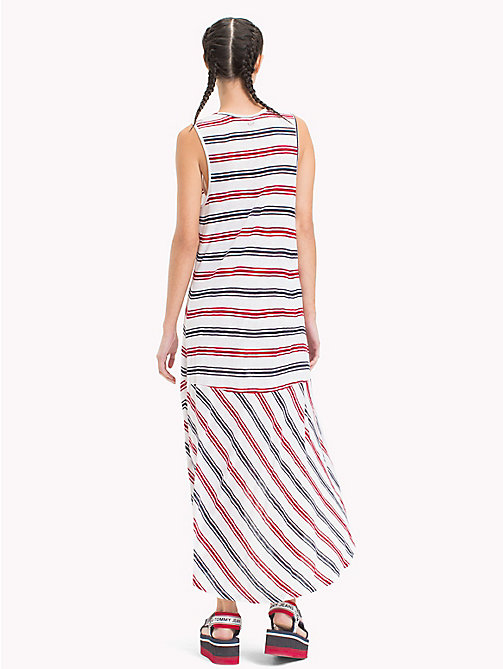TOMMY JEANS Stripe Jersey Tank Dress - SNOW WHITE / MULTI - TOMMY JEANS Midi - detail image 1