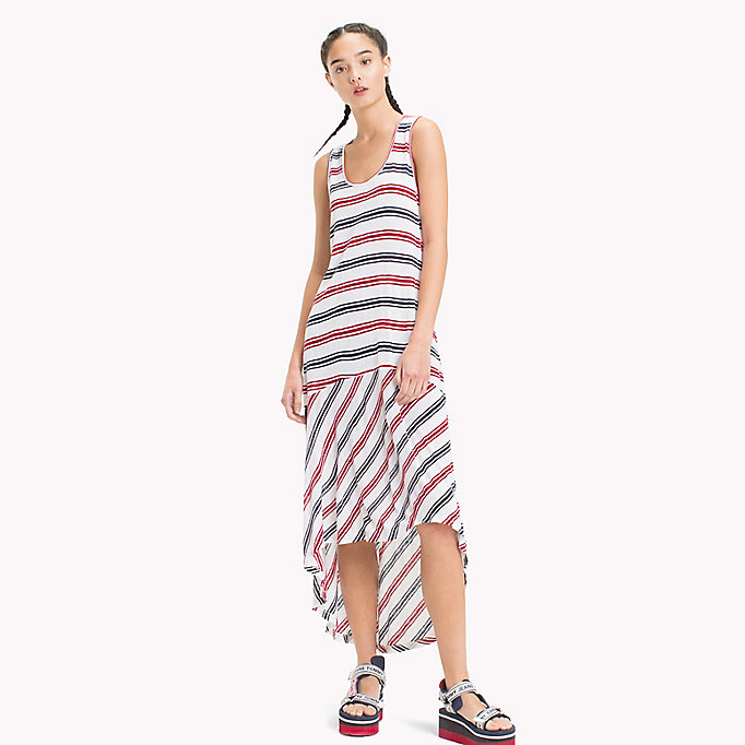 TOMMY JEANS Stripe Jersey Tank Dress - BLACK IRIS / SNOW WHITE - TOMMY JEANS Women - main image