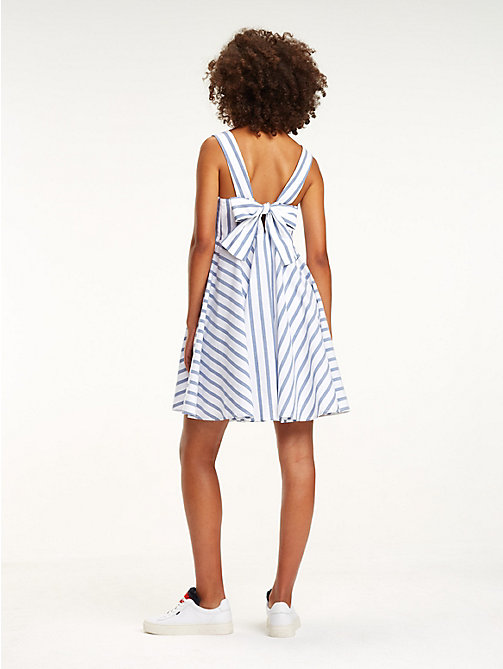 TOMMY JEANS Bow Back Stripe Dress - BLUE PRINT / BRIGHT WHITE - TOMMY JEANS Vacation Style - detail image 1