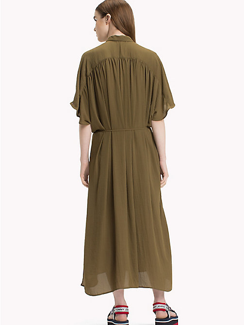 TOMMY JEANS Maxi Shirt Dress - MILITARY OLIVE - TOMMY JEANS Dresses - detail image 1