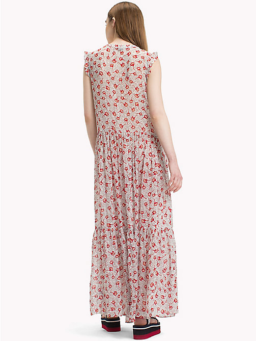 TOMMY JEANS Floral Maxidress - SCRIBBLE FLORAL PRINT - TOMMY JEANS Dresses - detail image 1