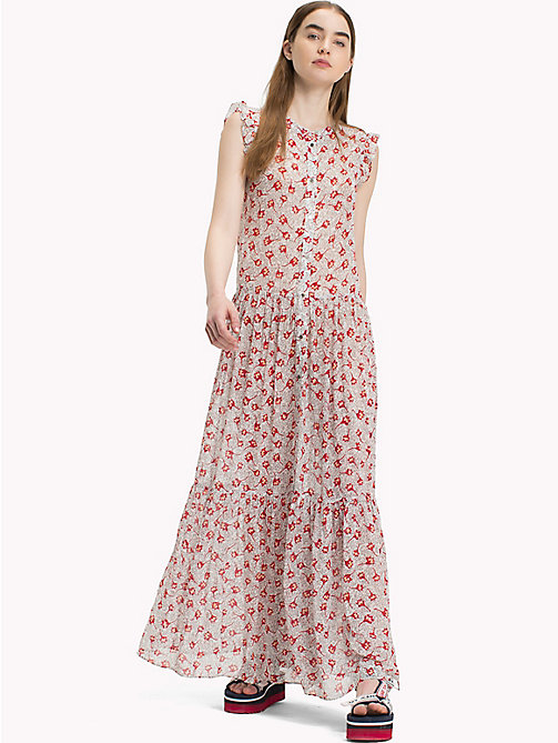 TOMMY JEANS Floral Maxidress - SCRIBBLE FLORAL PRINT - TOMMY JEANS Dresses - main image