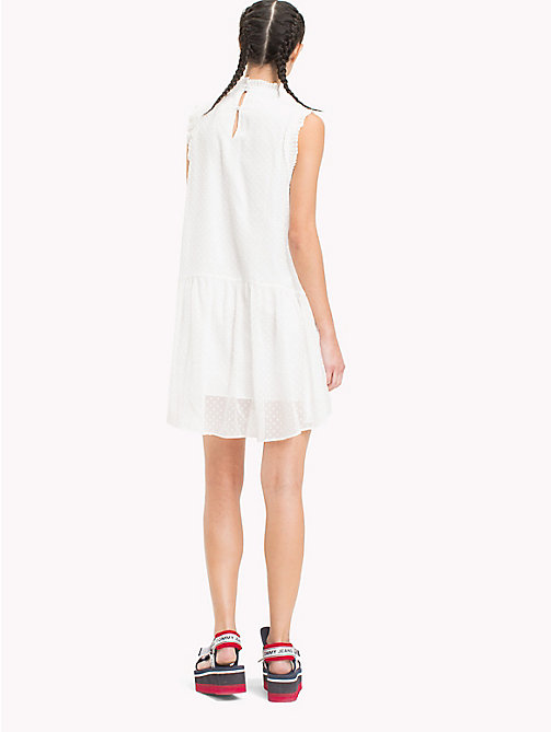 TOMMY JEANS High-Neck Ruffle Dress - SNOW WHITE - TOMMY JEANS Mini - detail image 1
