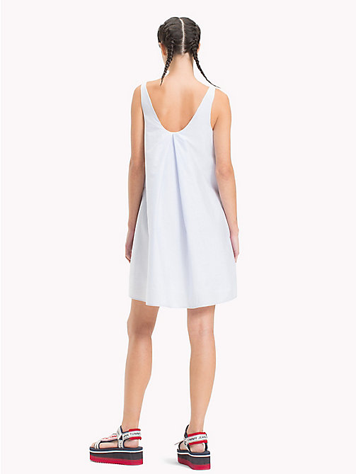 TOMMY JEANS Back Pleat Dress - SERENITY / BRIGHT WHITE - TOMMY JEANS Midi - detail image 1