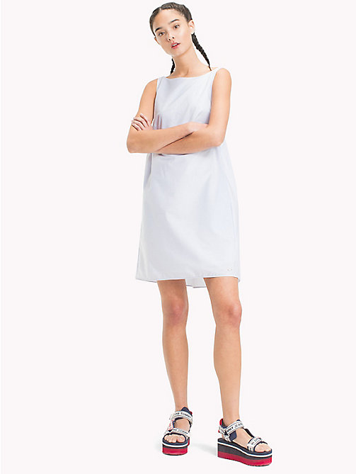 TOMMY JEANS Back Pleat Dress - SERENITY / BRIGHT WHITE -  Midi - main image