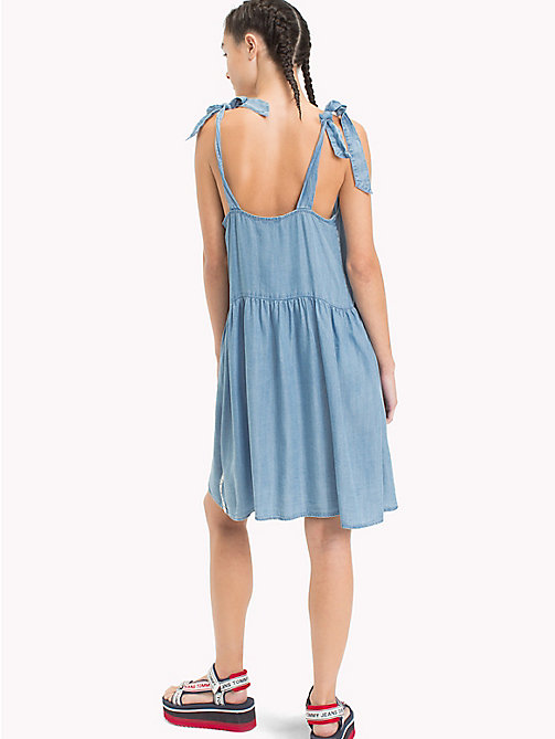 TOMMY JEANS Bow Strap Dress - LT BLUE INDIGO - TOMMY JEANS Mini - detail image 1