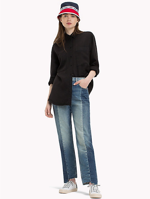 TOMMY JEANS Button Up Boyfriend Shirt - TOMMY BLACK - TOMMY JEANS Tops - main image