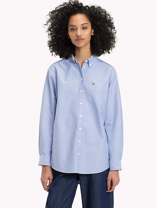 TOMMY JEANS Button Down Shirt - LIGHT BLUE - TOMMY JEANS Tommy Classics - main image