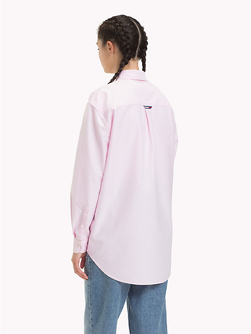 TOMMY JEANS Tommy Classics Oxford Shirt - OXFORD PINK - TOMMY JEANS Tops - detail image 1