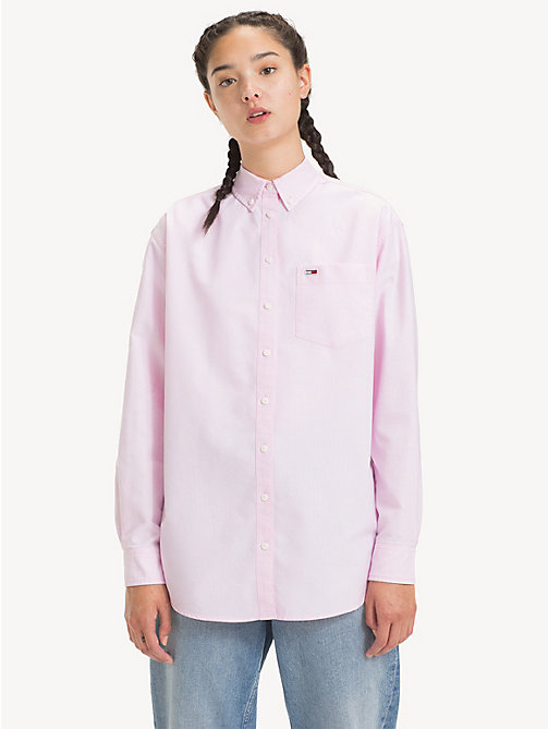 TOMMY JEANS Tommy Classics Oxford Shirt - OXFORD PINK - TOMMY JEANS Tops - main image