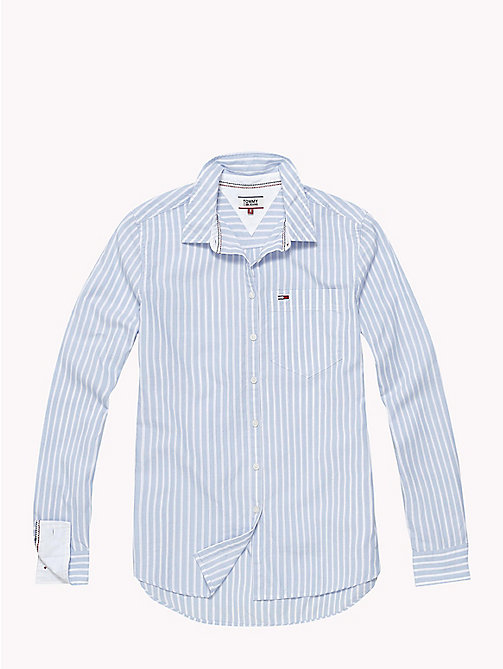 TOMMY JEANS Tommy Classics Regular Fit Stripe Shirt - LIGHT BLUE  / BRIGHT WHITE - TOMMY JEANS Tommy Classics - detail image 1