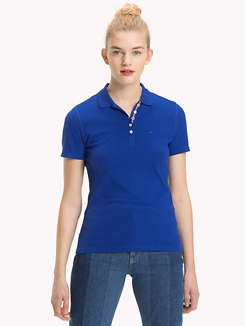 TOMMY JEANS Signature Placket Fitted Polo Shirt - SURF THE WEB -  Sustainable Evolution - main image