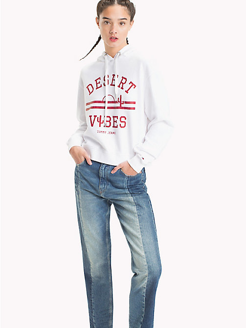 TOMMY JEANS Cropped Hoodie - BRIGHT WHITE - TOMMY JEANS Clothing - main image