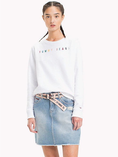 TOMMY JEANS Tommy Jeans Logo Sweatshirt - BRIGHT WHITE - TOMMY JEANS Vacation Style - main image