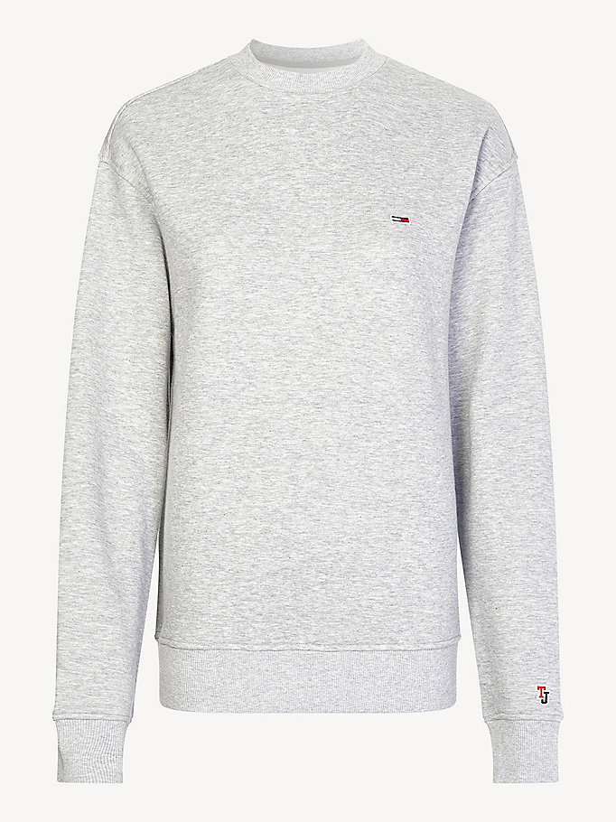 TOMMY JEANS Classic Flag Jumper - BRIGHT WHITE - TOMMY JEANS Women - detail image 3
