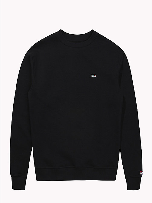 TOMMY JEANS Tommy Classics Crew Neck Sweatshirt - TOMMY BLACK - TOMMY JEANS Sweatshirts & Hoodies - detail image 1