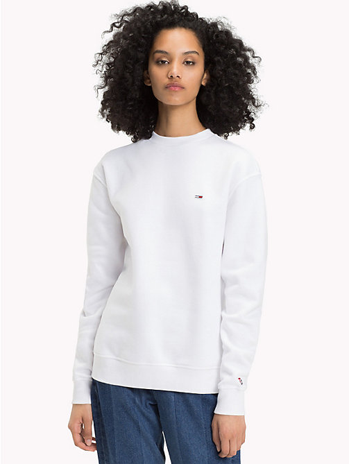 TOMMY JEANS Худи Tommy с монограммой - BRIGHT WHITE - TOMMY JEANS Tommy Classics - главное изображение