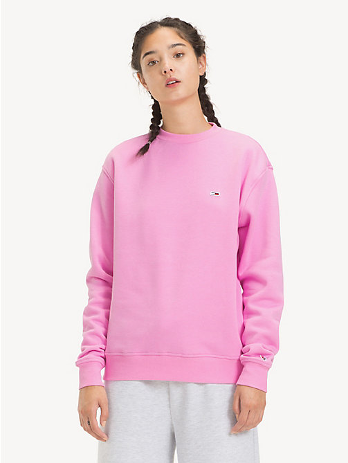 TOMMY JEANS Tommy Classics Crew Neck Sweatshirt - LILAC CHIFFON - TOMMY JEANS Sweatshirts & Hoodies - main image
