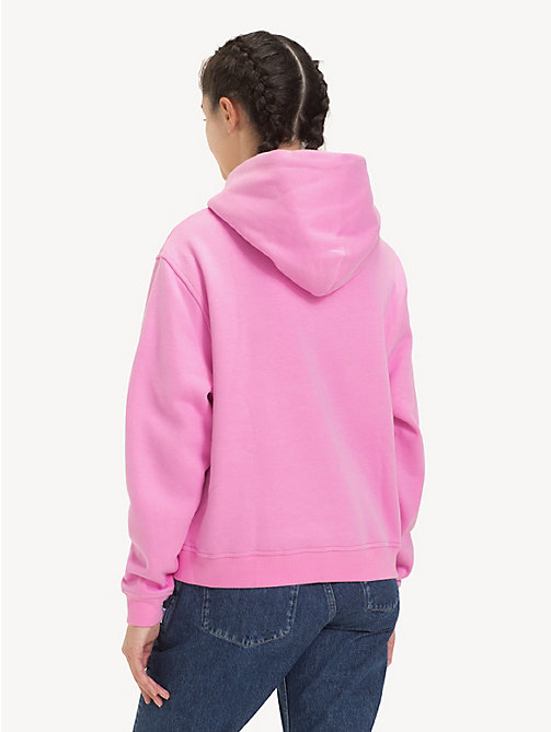 TOMMY JEANS Tommy Classics Monogram Hoody - LILAC CHIFFON - TOMMY JEANS Sweatshirts & Hoodies - detail image 1