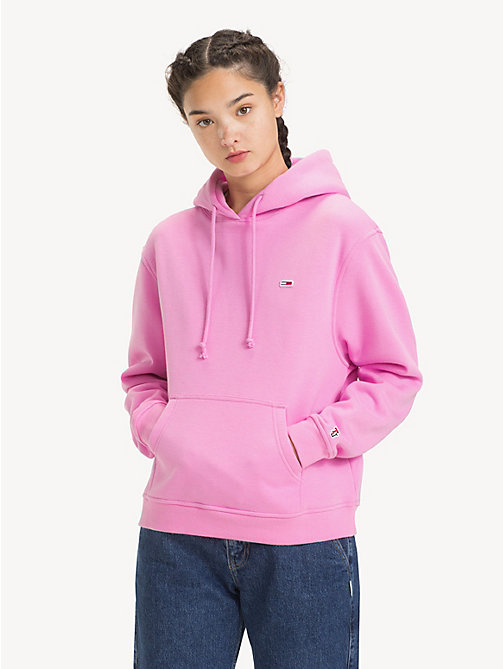 TOMMY JEANS Tommy Classics Monogram Hoody - LILAC CHIFFON - TOMMY JEANS Sweatshirts & Hoodies - main image