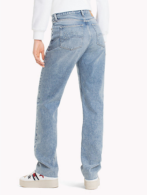 TOMMY JEANS High Rise Straight Fit Jeans - DESERT MID BLUE RIGID - TOMMY JEANS Jeans - detail image 1