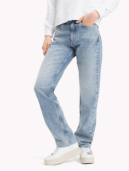TOMMY JEANS High Rise Straight Fit Jeans - DESERT MID BLUE RIGID - TOMMY JEANS Jeans - main image