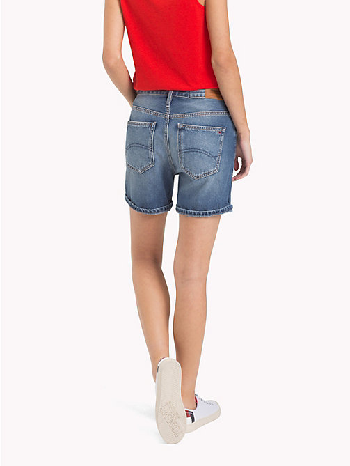 TOMMY JEANS Flamingo Denim Shorts - BLEEP MID BLUE RIGID - TOMMY JEANS Vacation Style - detail image 1