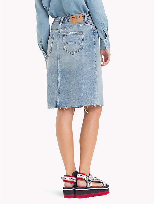 TOMMY JEANS Knee Length Denim Skirt - DESERT MID BLUE RIGID - TOMMY JEANS Trousers & Skirts - detail image 1