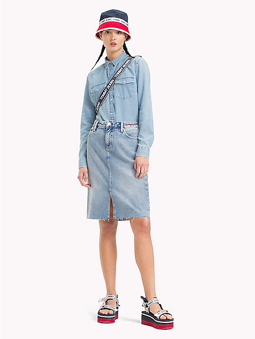 TOMMY JEANS Knee Length Denim Skirt - DESERT MID BLUE RIGID - TOMMY JEANS Festival Season - main image