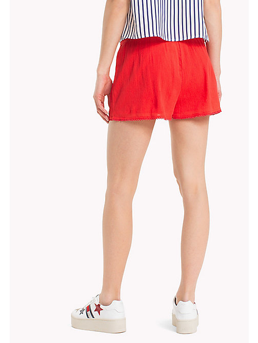TOMMY JEANS Relaxed Fit Summer Shorts - POPPY RED - TOMMY JEANS Trousers & Skirts - detail image 1