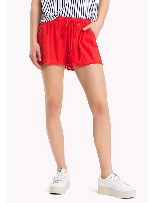 TOMMY JEANS Relaxed Fit Summer Shorts - POPPY RED - TOMMY JEANS Trousers & Skirts - main image