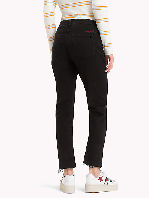 TOMMY JEANS Cropped Straight Leg Jeans - TOMMY BLACK - TOMMY JEANS Jeans - detail image 1