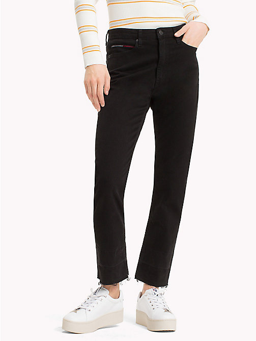 TOMMY JEANS Cropped Straight Leg Jeans - TOMMY BLACK - TOMMY JEANS Trousers & Shorts - main image