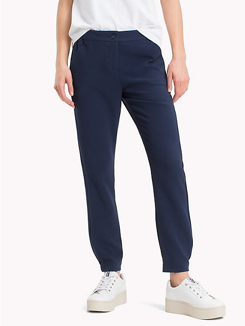 TOMMY JEANS Smart Cropped Trousers - BLACK IRIS - TOMMY JEANS Trousers & Shorts - main image