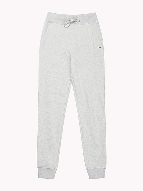 TOMMY JEANS Tommy Classics Monogram Joggers - LT GREY HTR - TOMMY JEANS Trousers & Shorts - detail image 1