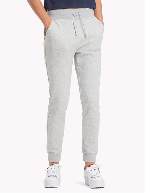 TOMMY JEANS Straight Leg Fit Jogginghose - LT GREY HTR - TOMMY JEANS Tommy Classics - main image