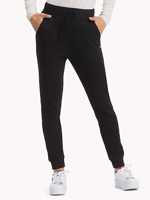 TOMMY JEANS Straight Leg Sweatpants - TOMMY BLACK - TOMMY JEANS Trousers & Skirts - detail image 1