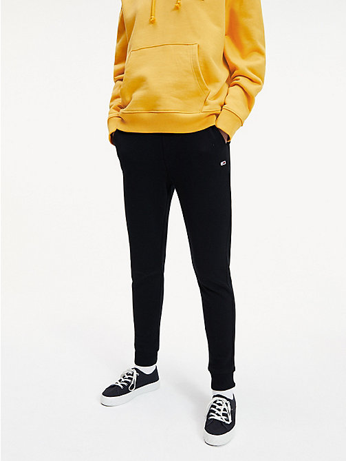 TOMMY JEANS Straight Leg Sweatpants - TOMMY BLACK - TOMMY JEANS Trousers & Skirts - main image